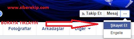 facebook sahte hesap kapama
